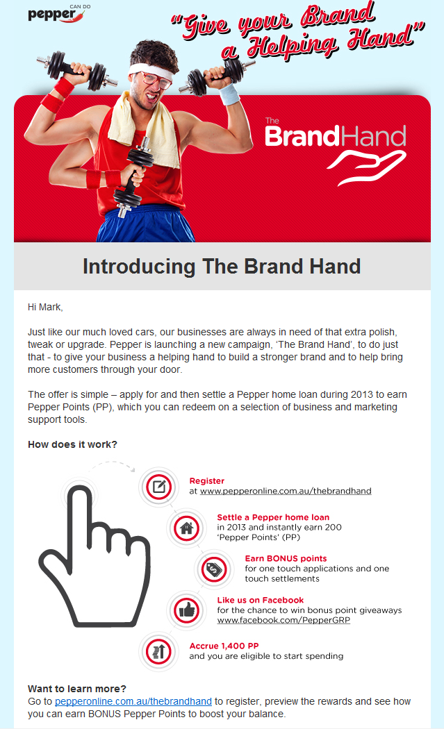 The Brand Hand Launch Email